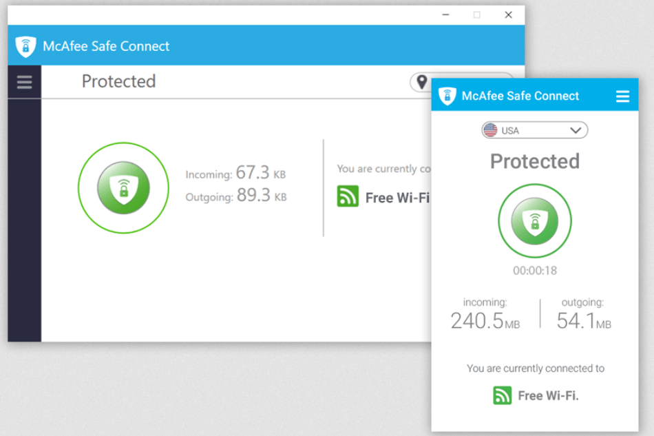 McAfee Total Protection – Fast VPN speeds
